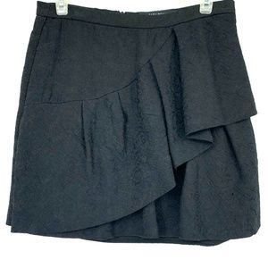 Zara Tiered Ruffle Pleated Mini A-Line Skirt